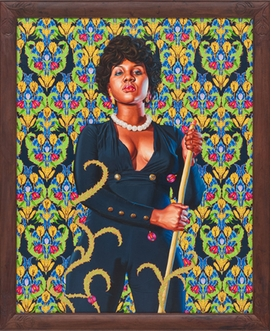 """Portrait of Anne Cynthia Petit Vil"" (2014) is reproduced from <I>Kehinde Wiley: The World Stage: Haiti</I>."