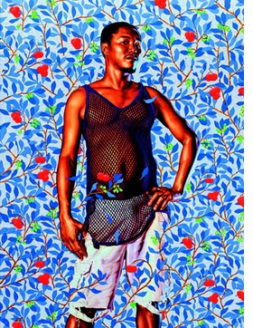 """John Wilmot, 2nd Earl of Rochester"" (2013) is reproduced from <I>Kehinde Wiley: The World Stage Jamaica</I>."
