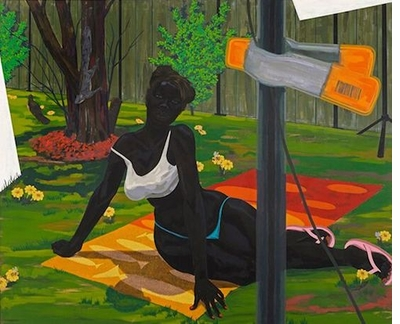 Kerry James Marshall: Look See, Beach Towel