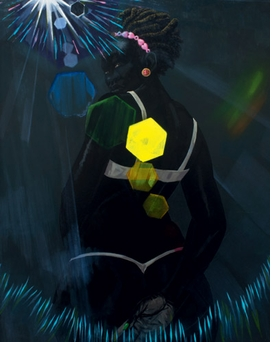 """""""Small Pin-Up (Lens Flare)"""" (2013) is reproduced from <I>Kerry James Marshall: Painting and Other Stuff</I>."""