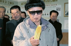 """Featured image, """"Looking at Corn,"""" is reproduced from <I>Kim Jong Il Looking at Things</I>."""