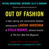 Landon Nordeman and Stella Bugbee Launch 'Out of Fashion' at Rizzoli