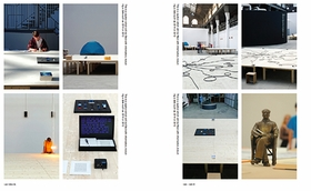 "Featured image is a spread reproduced from <i>Liam Gillick: From Nineteen Ninety ""A"" to Nineteen Ninety ""D""</i>."