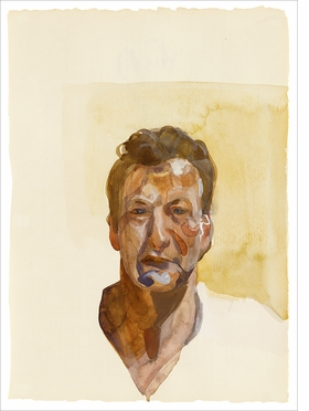 """Self-Portrait"" (1974) is reproduced from <I>Lucian Freud: A Closer Look</I>."