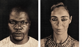 """In a 1999 conversation with Chuck Close, reproduced in <a href=""""9780974364872.html"""" target='new'>Excessive Exposure: The Complete Chocolate Portraits</a>, Lyle Ashton Harris says, """"I'm attracted to my subjects in a lot of different ways: in relationship to form, to power, to desire, and in relationship to the transgression of class. For me the process of portraiture is a way of negotiating intimacy."""" Featured Polaroids from the <I>Chocolate Portraits</I> series are of artists Kehinde Wiley and Shirin Neshat."""