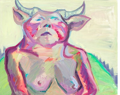 Maria Lassnig: Works, Diaries & Writings, Myself as Alpine Cow