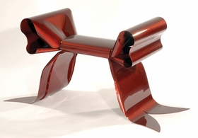 "Featured image, of Maria Pergay's whimsical ribbon bench, is reproduced from <a href=""http://www.artbook.com/9788862081740.html"">Maria Pergay: Complete Works 1957-2010</a>."