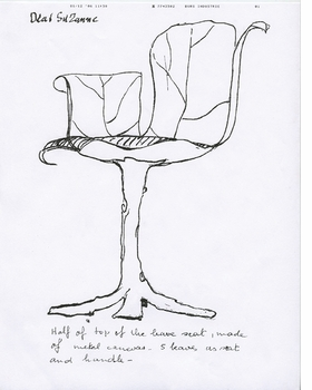 """Bronze Chair"" is reproduced from 'Maria Pergay: Sketchbook.'"
