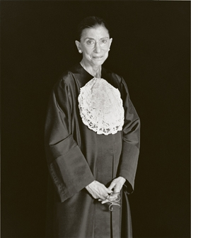 Featured portrait, of Supreme Court Justice Ruth Bader Ginsburg, is reproduced from <I>Mariana Cook: Justice</I>.