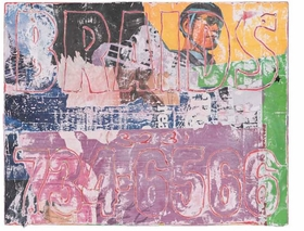 "The image featured here is a mixed media collage by Mark Bradford, <i>Untitled</i>, 2007, from his book <a href="" 9780980024227.html ""> Merchant Posters</a>."
