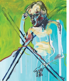 """Untitled"" (1996) is reproduced from <I>Martin Kippenberger: Catalogue Raisonné of the Paintings, Volume 4 1993-1997</I>."
