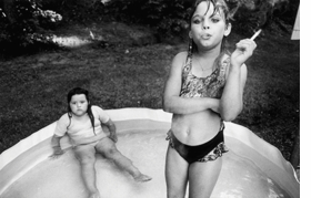 """Amanda and her cousin Amy, Valdese, North Carolina, USA"" (1990) is reproduced from <I>Mary Ellen Mark on the Portrait and the Moment</I>."