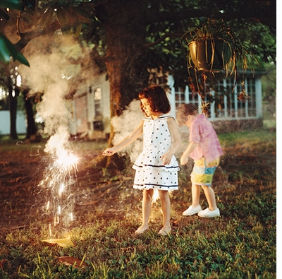 Maude Schuyler Clay: Mississippi History, Anna and Schuyler with fireworks