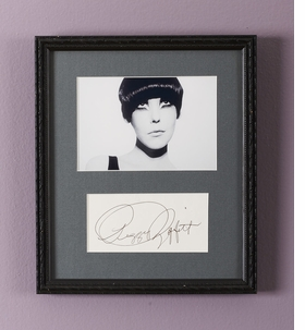 Featured image - of Peggy Moffitt and her autograph - is reproduced from 'Models Matter.'