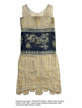 Jeanne Paquin, Chimère evening dress, 1925, is reproduced from <i>Modern Taste: Art Deco in Paris 1910-1935</i>.