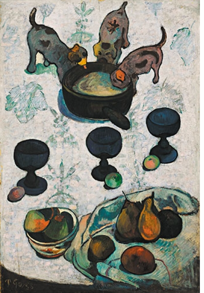 "Monet, Gauguin, Van Gogh … Japanese Inspirations: Paul Gauguin, ""Still Life with Three Puppies"""
