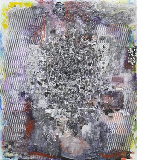"""Willie Meets the Keeper"" (1987) is reproduced from 'More Dimensions Than You Know: Jack Whitten, 1979–1989.'"