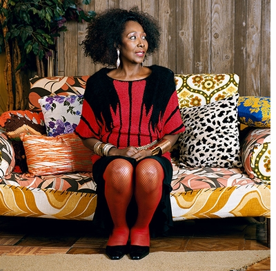 Muse: Mickalene Thomas, Sandra: She's a Beauty #2