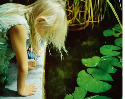 Nan Goldin: Diving for Pearls, Luna at the lily pond