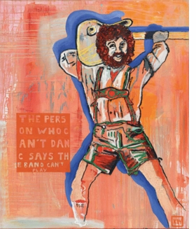 "Martin Kippenberger's ""The person who can't dance says the band can't play"" (1984) is reproduced from <I>No Problem: Cologne/New York 1984–1989</I>."