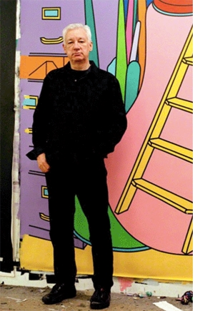 Featured image, of Michael Craig-Martin in his London studio, 2000, is reproduced from <I>On Being an Artist</I>.
