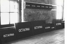 Featured image, of On Kawara's studio on 13th Street and 1st Avenue, New York, in 1966, is reproduced from <I>On Kawara: Date Paintings in New York and 136 Other Cities</I>.