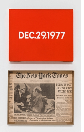 "Featured image, ""DEC. 29, 1977"", <I>Thursday</I>, from <I>Today</I>, 1966–2013, is reproduced from <I>On Kawara — Silence</I>."
