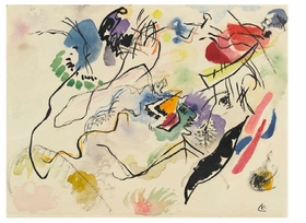 "Artist Atusko Tanake utilized crayon, permanent marker and ink to make his <i>Drawing after ""Electric Dress""</i> from 1956. It is one of many drawings collected in <a href=""9780870707827.html"">On Line: Drawing Through the Twentieth Century</a>."