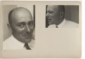 """El Lissitzky, Dessau, June 1930"" is reproduced from <I>One and One Is Four: The Bauhaus Photocollages of Josef Albers</I>."