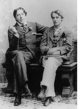 "Featured image, of Oscar Wilde and Lord Alfred ""Bosie"" Douglas, circa May 1893, by Gillman & Co., is reproduced from <I>Oscar Wilde and His Circle</I>."