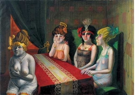 "Featured image, ""The Salon I"" (1921), is reproduced from <I>Otto Dix and New Objectivity</I>."
