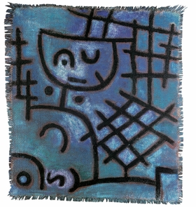 """Untitled (Captive, Figure of This World / Next World"" (ca. 1940) is reproduced from 'Paul Klee: The Abstract Dimension.'"