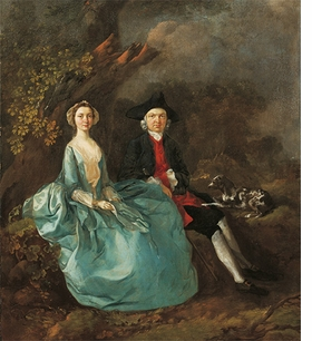 "Thomas Gainsborough, ""John Joshua Kirby and his wife"", 1750, is reproduced from <i>Pets in Portraits</i>."