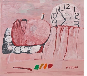 """Pittore"" (1973) is reproduced from 'Philip Guston & the Poets.'"