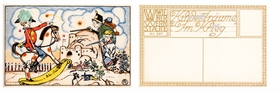"""Childhood Dreams: 2. At War,"" by Wiener Werkstätte artist Richard Teschner, 1911."