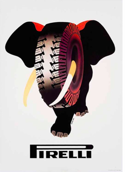 Posters: Eat & Drink in Italian Advertising, 1890-1970, Armando Testa, Pirelli Tires
