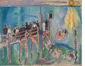 "Raoul Dufy, ""Sun Reflections on the Sea at Sainte-Adresse"", 1906, is reproduced from <i>Raoul Dufy</i>."