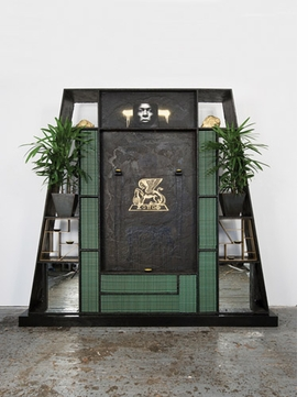 """Featured image, Rashid Johnson's 2008 sculpture, """"Souls of Black Folk,"""" is reproduced from <I>Message to Our Folks</I>."""