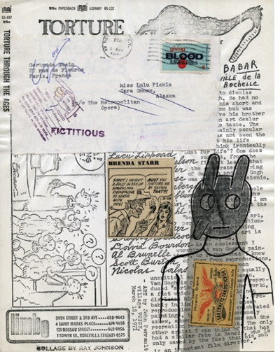 "Ray Johnson Collage (""torture"") from Siglio"
