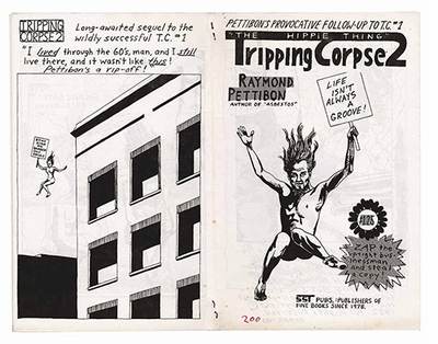 Raymond Pettibon: Homo Americanus, Tripping Corpse 2, The Hippie Thing