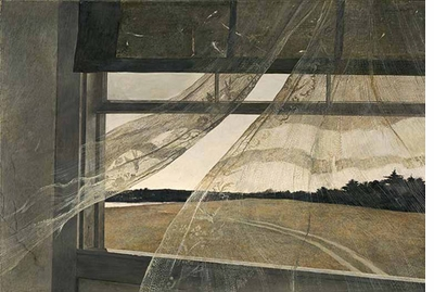 Reflection, Illumination, Luminosity, Shadows and Patterns: Andrew Wyeth Looking Out, Looking In