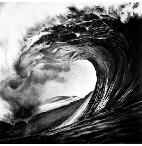 how to draw realistic waves