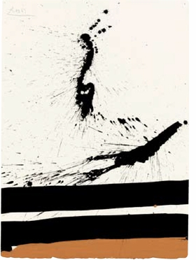 "Robert Motherwell, ""Beside the Sea No. 45"", 1967, is reproduced from <i>Robert Motherwell: Works on Paper</i>."