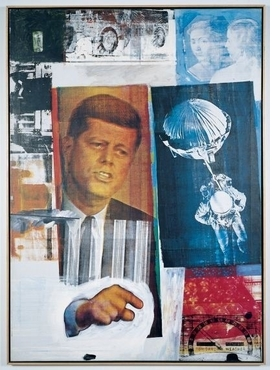 "Robert Rauschenberg, ""Retroactive II"" (1963) is reproduced from <I>Robert Rauschenberg</I>."