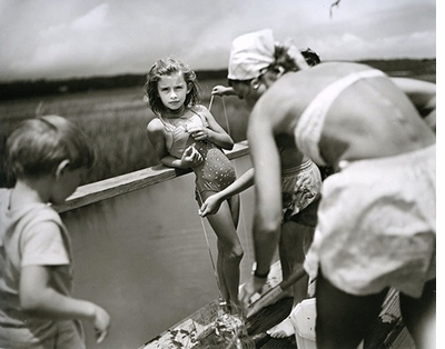 "Sally Mann: Immediate Family, ""Crabbing at Pawley's"" (1989)"