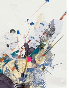 "Featured image, reproduced from <a href=""9780878481132.html"">Infinite Line</a>, Asia Society Museum's new monograph on Sarah Sze, is the 2009 collage work ""Guggenheim as a Ruin."" In a conversation with Asia Society Museum Director Melissa Chiu, published in the book, Sze comments, ""For me the entire experience of viewing a work is always based on a kind of circulation or choreography through the space. This is something that I think comes from an architectural way of seeing. There's a consideration of how the viewer will see it at every point - even what ones sees peripherally when looking at other things. If I'm in a group show I always want to find out how you enter, what you will see first, what leads up to  your experience of the work, and then what you will see last. The viewer's perspective and how information is revealed to viewers as they  move through time and space are for me actually what the experience of the work is always about."""