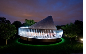 Featured image is of the 2007 Serpentine Gallery Pavilion, in collaboration with artist Olafur Eliasson.