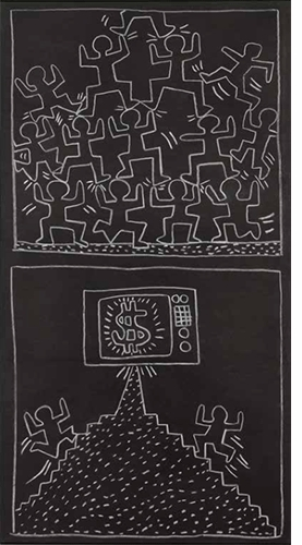 """Haring Subway Drawings"" (1986) is reproduced from <I>Sturtevant: Drawing Double Reversal</I>."