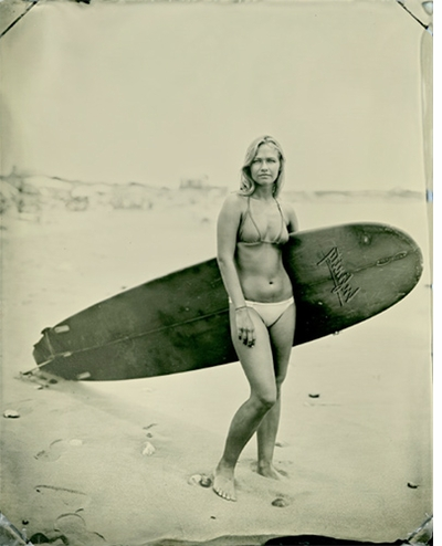 SURF'S UP! Two California Events for Joni Sternbach: Surf Site Tin Type