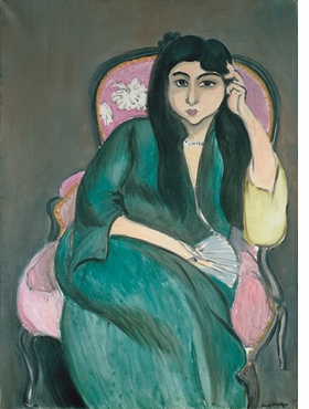 "Featured image, ""The Woman in Green in the Pink Armchair (Laurette)"" (1917), by Henri Matisse, is reproduced from <I>The Arthur and Hedy Hahnloser Collection</I>"
